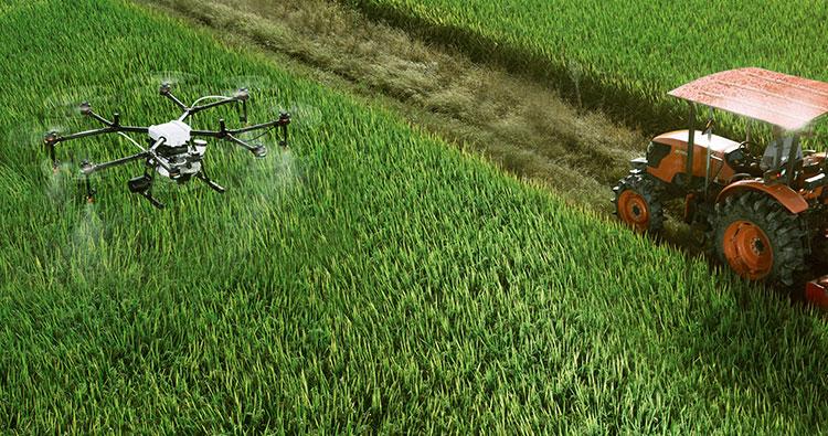 液体農薬、肥料および除草剤の様々な散布を高精度に